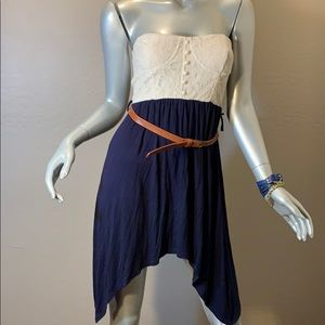 Rue21 Strapless dress with honey color belt